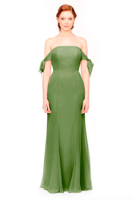 Bari Jay Bridesmaid Dress 1974 - Forest