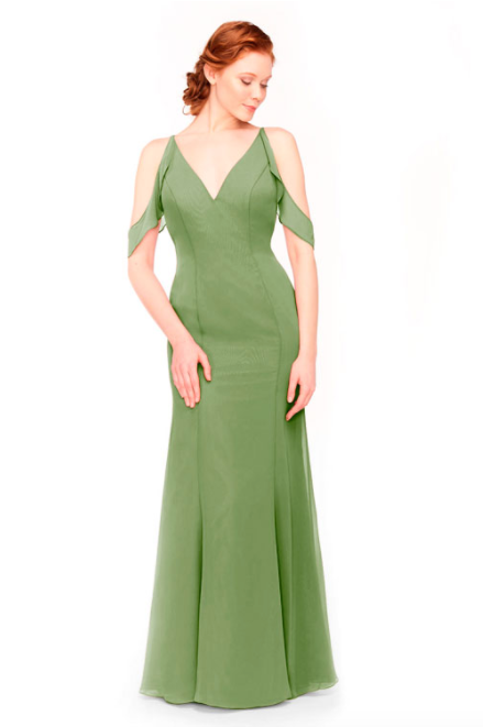 Bari Jay Bridesmaid Dress 1972 - Forest