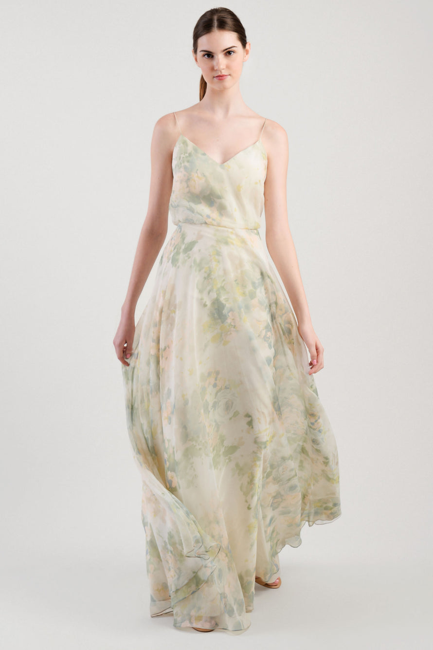 Jenny Yoo Long Bridesmaid Dress Inesse Print