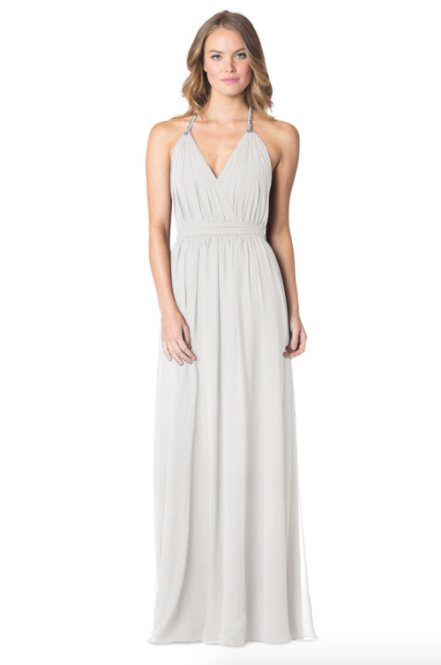 Ivory-Bari Jay Bridesmaid Dress - 1600