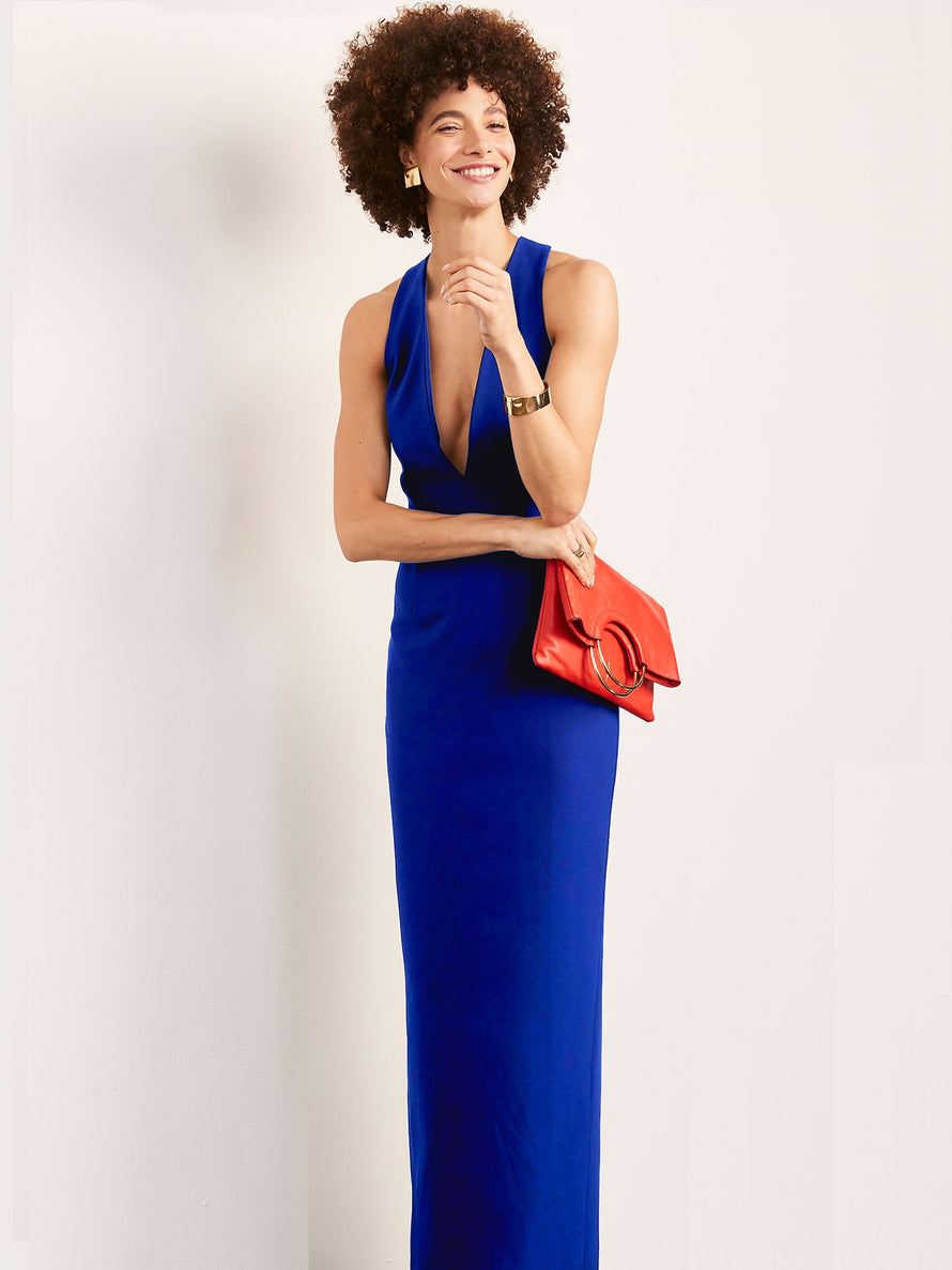 Cobalt Altress Julia Plunging Neckline Long Bridesmaid Dress