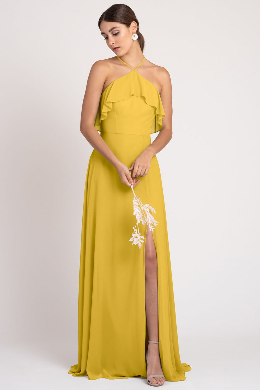 Jenny Yoo bridesmaid dress Jada_chartreuse