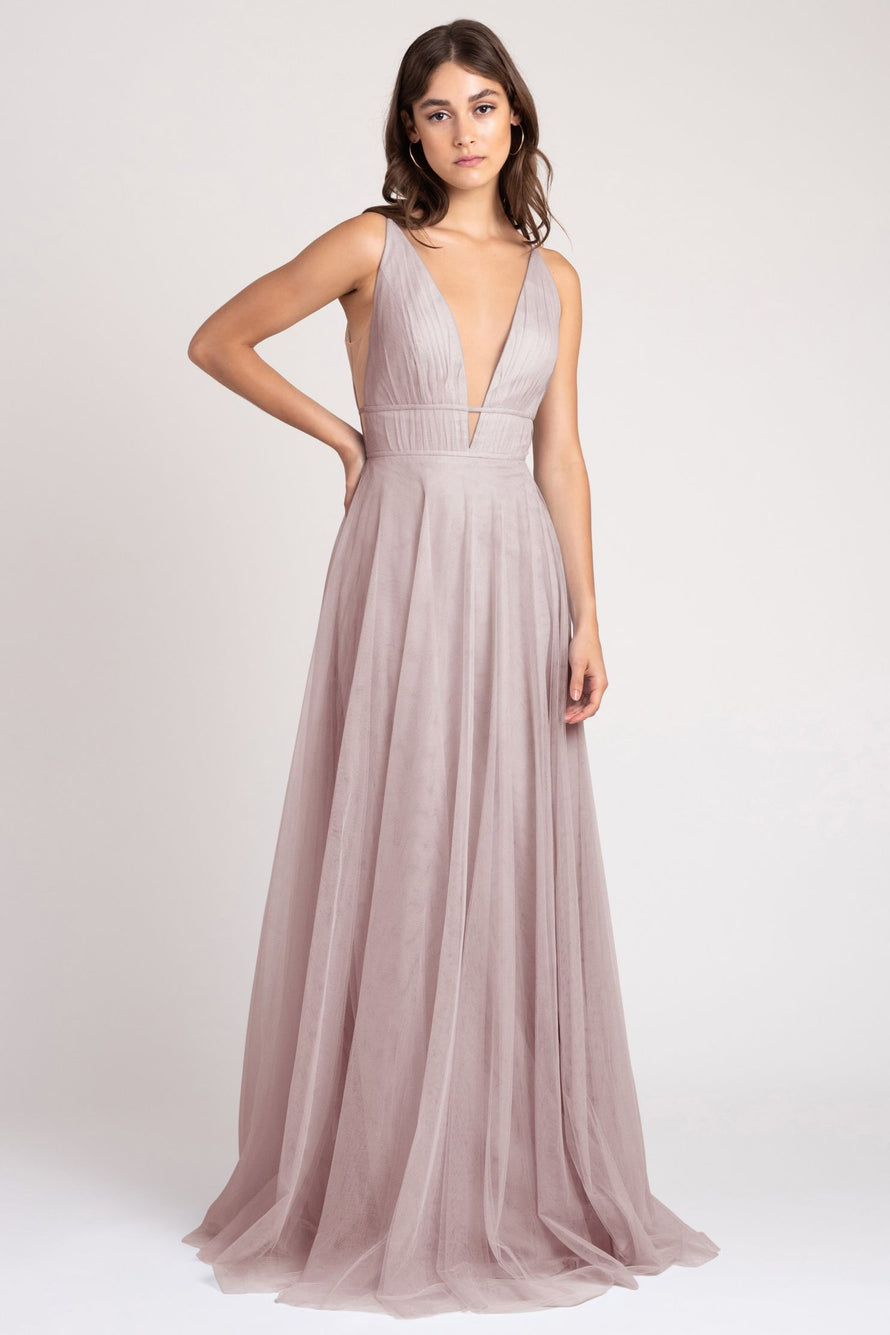 Jenny Yoo Long Bridesmaid Dress Kaelyn_vintage_iris