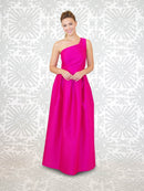 LulaKate Bridesmaid Dress Cason - Dahlia Skirt Long