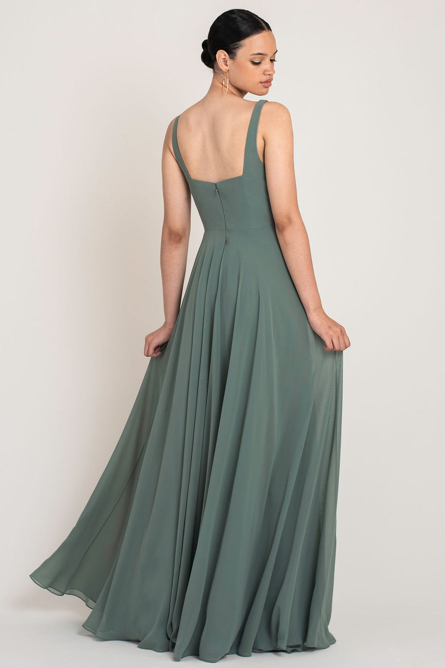 Jenny Yoo Long Bridesmaid Dress Maddi back