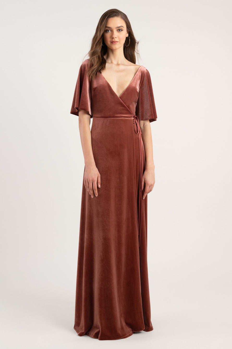 Jenny Yoo Long Bridesmaid Dress Marin