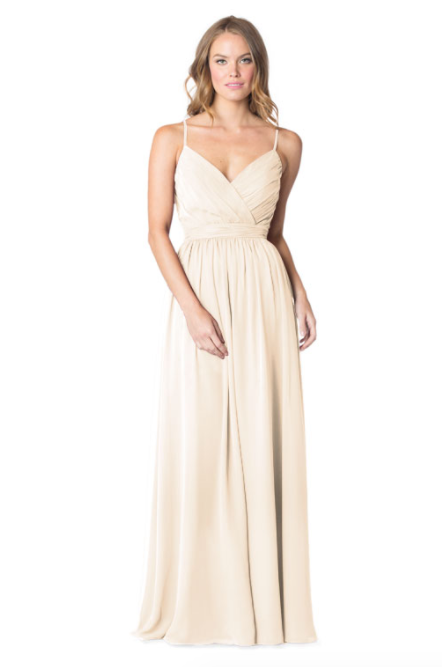 Bari Jay Bridesmaid Dress - 1606 BC-MetallicChiffon GoldMist