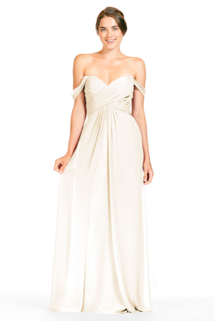 Bari Jay Bridesmaid Dress 1803 - MetallicChiffon-GoldMist
