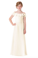Bari Jay Junior Bridesmaid Dress - 1730(JR)-MetallicChiffon-GoldMist