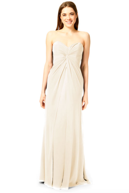 Bari Jay Bridesmaid Dress 1870 -MetallicChiffon-GoldMist