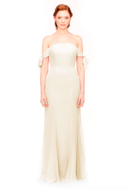 Bari Jay Bridesmaid Dress 1974 - MetallicChiffon-GoldMist