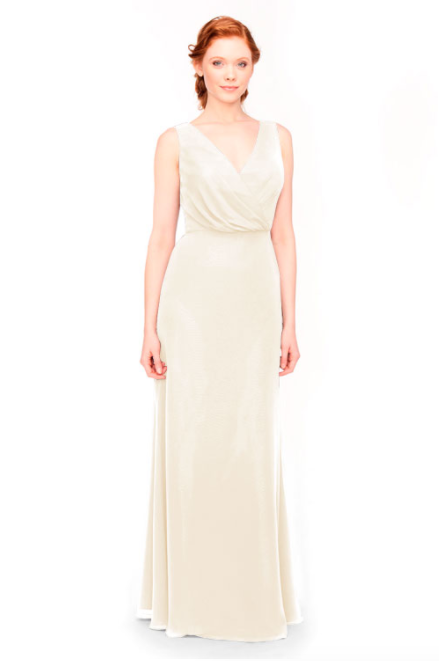 Bari Jay Bridesmaid Dress 1970 -MetallicChiffon-GoldMist