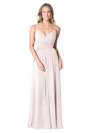 Bari Jay Bridesmaid Dress - 1606 BC-MetallicChiffon-RoseGold