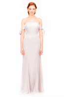 Bari Jay Bridesmaid Dress 1974 - MetallicChiffon-RoseGold