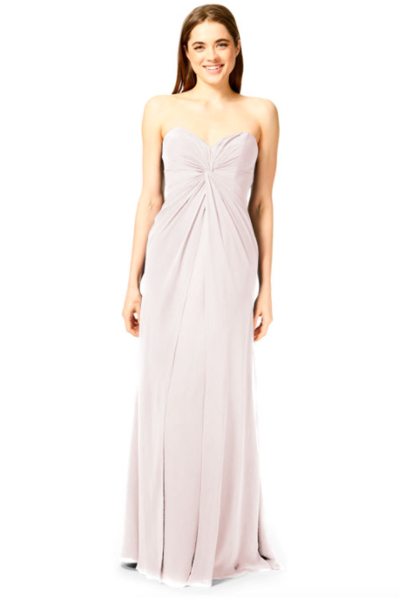 Bari Jay Bridesmaid Dress 1870 -MetallicChiffon-RoseGold