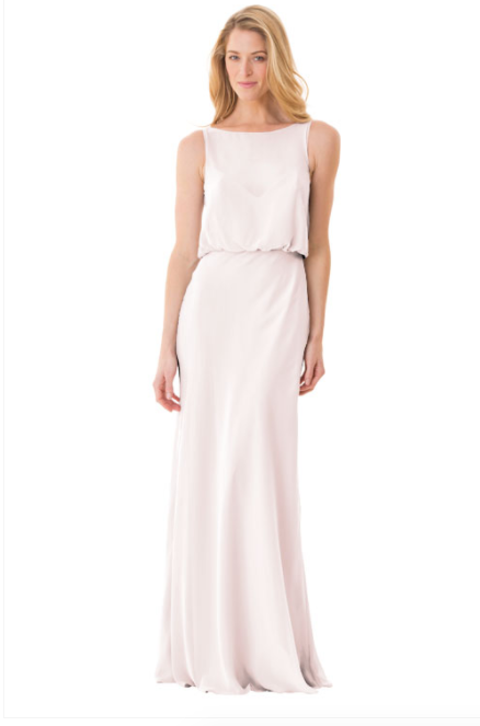 Bari Jay Bridesmaid Dress - 1661-MetallicChiffon-RoseGold