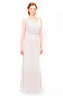 Bari Jay Bridesmaid Dress 1970 -MetallicChiffon-RoseGold