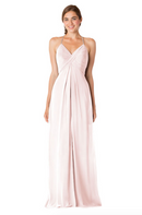 Bari Jay Bridesmaid Dress - 1723 BC-MetallicChiffon-RoseGold