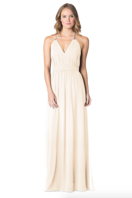 MetallicChiffonGoldMist-Bari Jay Bridesmaid Dress - 1600