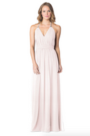 MetallicChiffonRoseGold-Bari Jay Bridesmaid Dress - 1600