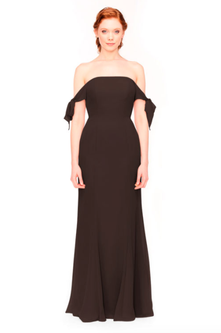 Bari Jay Bridesmaid Dress 1974 - Mink