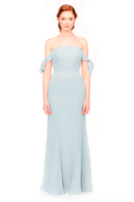 Bari Jay Bridesmaid Dress 1974 - Mistyblue