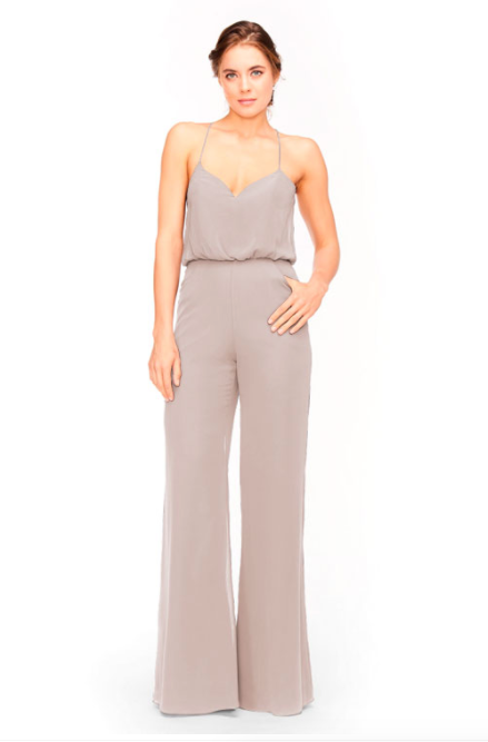 Bari Jay Jumpsuit Bridesmaid Dress 1964 - Mocha