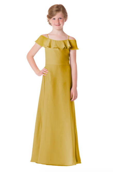 Bari Jay Junior Bridesmaid Dress - 1730(JR)-Mustard