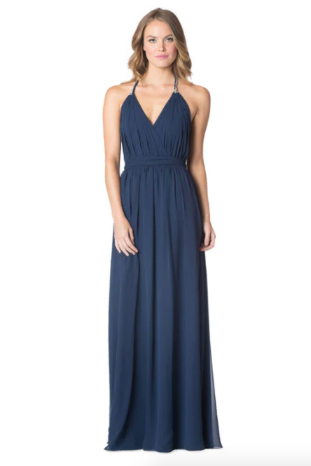 Navy-Bari Jay Bridesmaid Dress - 1600