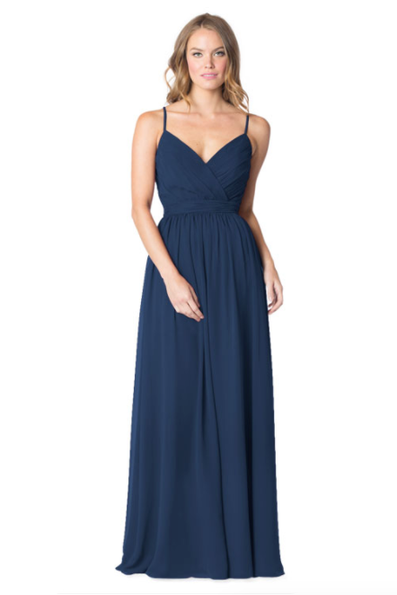 Bari Jay Bridesmaid Dress - 1606 BC-Navy