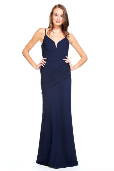 Bari Jay Bridesmaid Dress 2012 - Navy
