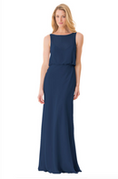Bari Jay Bridesmaid Dress - 1661-Navy