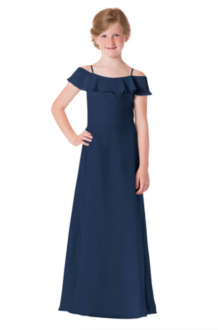 Bari Jay Junior Bridesmaid Dress - 1730(JR)-Navy