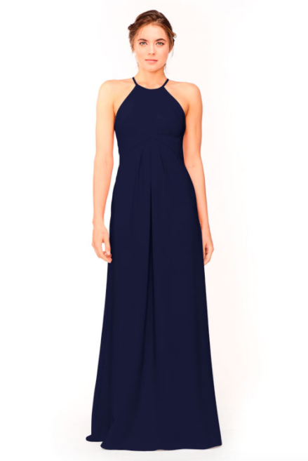 Bari Jay Bridesmaid Dress 1950 -Navy