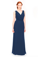 Bari Jay Bridesmaid Dress 1970 -Navy