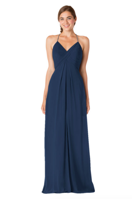 Bari Jay Bridesmaid Dress - 1723 BC-Navy