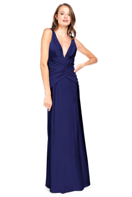 Bari Jay Bridesmaid Dress 2001 -Navy