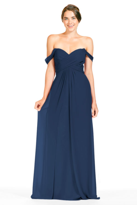 Bari Jay Bridesmaid Dress 1803 - Navy