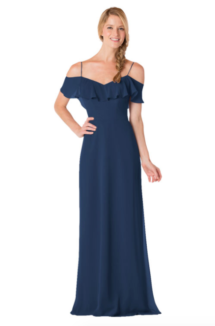 Bari Jay Bridesmaid Dress - 1730-Navy