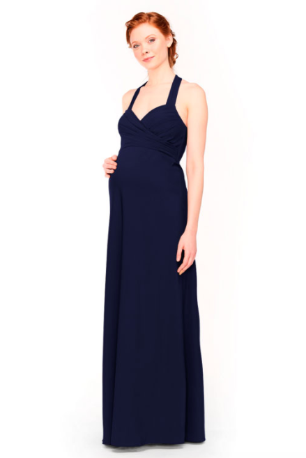 Bari Jay Maternity Bridesmaid Dress 1958 -Navy