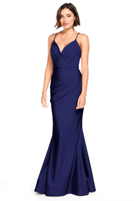Bari Jay Bridesmaid Dress 2000 -Navy