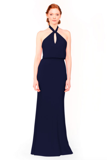 Bari Jay Bridesmaid Dress 1954 - Navy