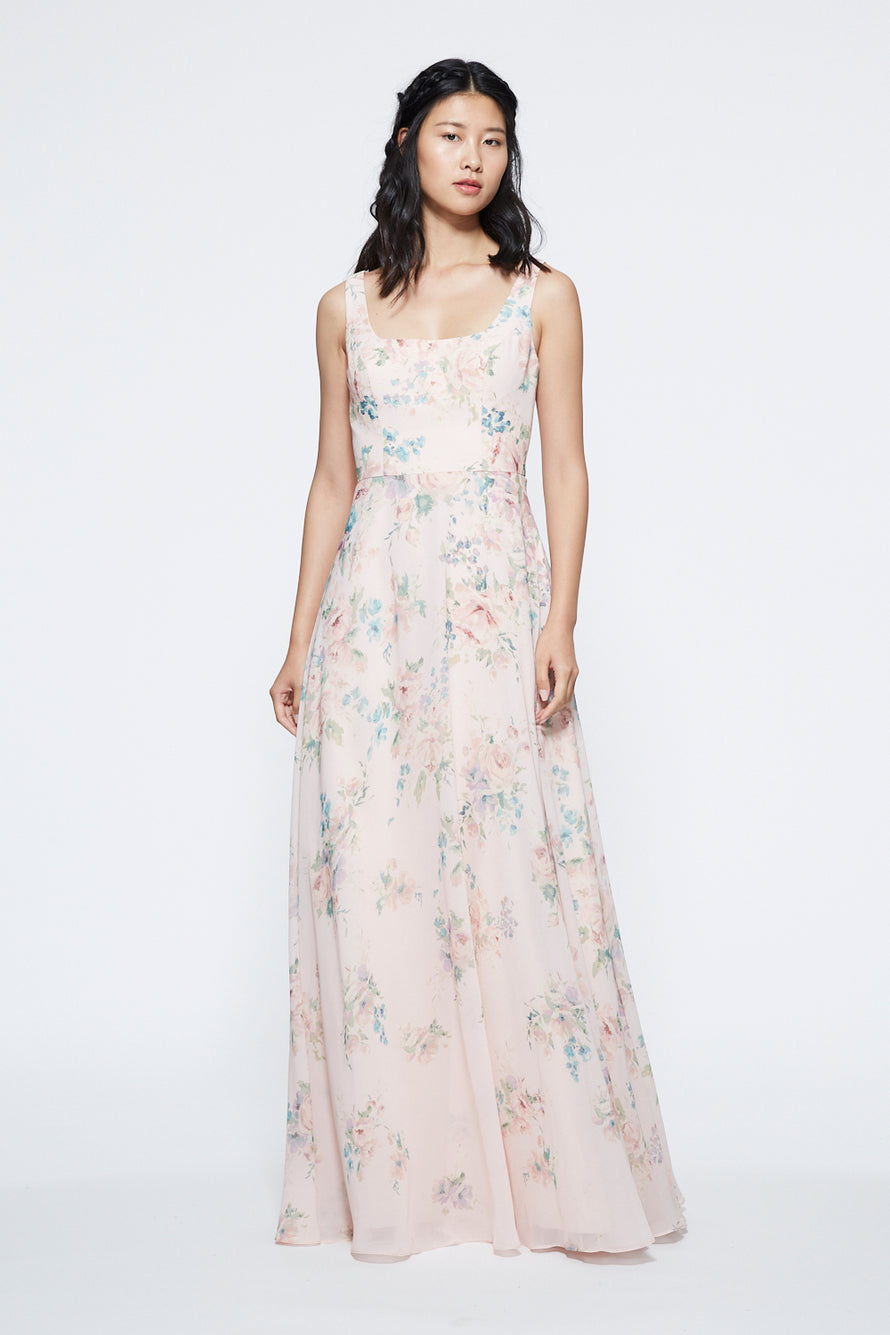 Marchesa Notte Scoop Neck with Self-tie Bridesmaid Dress BM1128P2