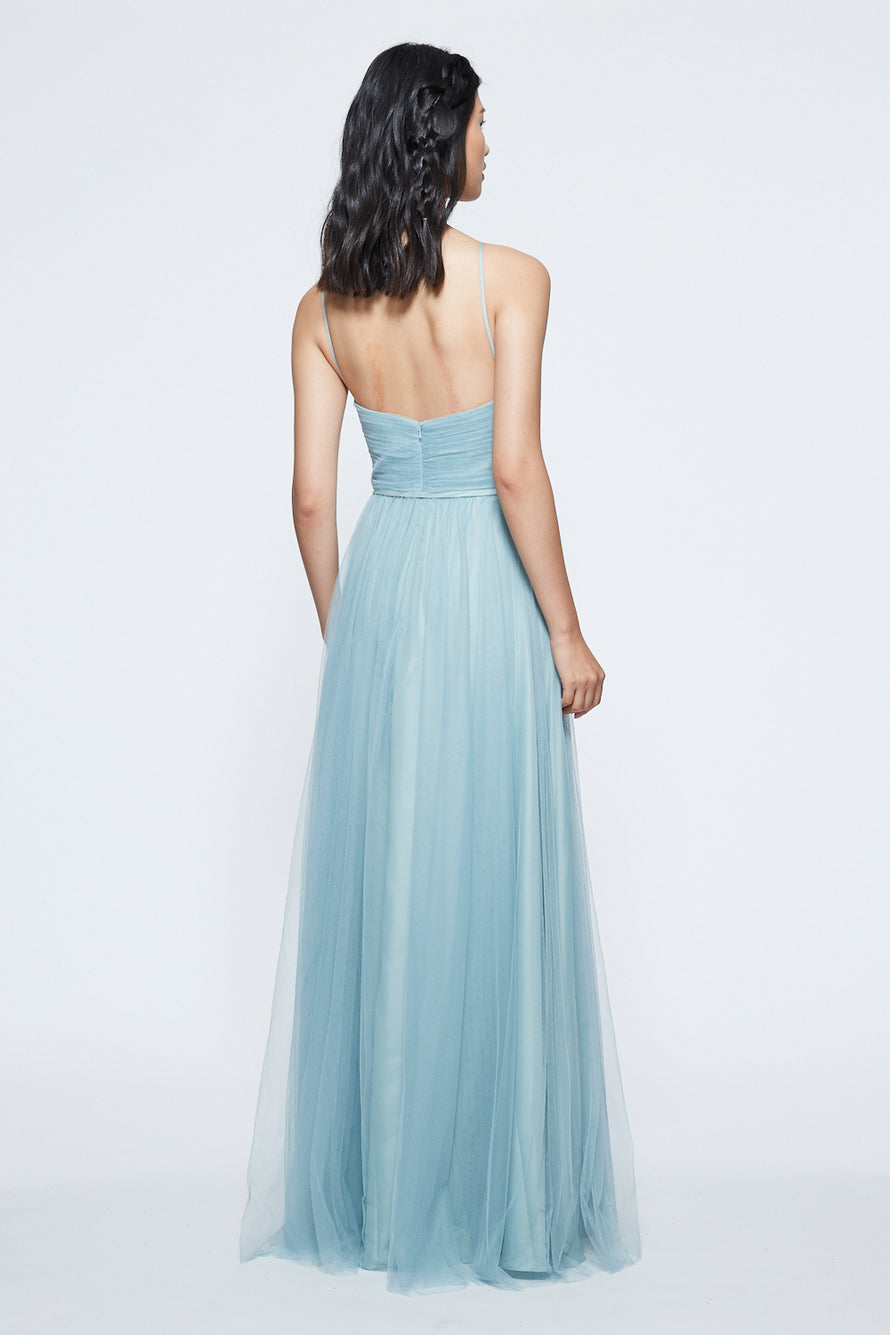 Marchesa Notte Ruched Keyhole Halter Bridesmaid Dress BM1122