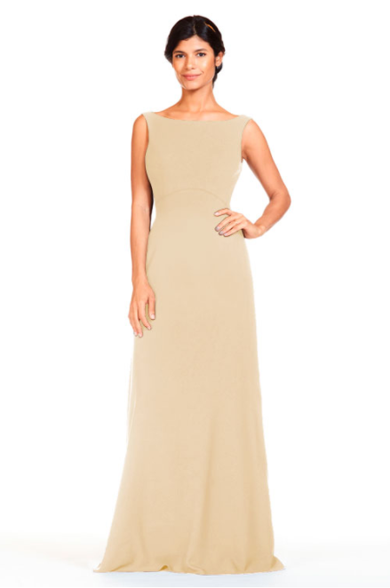 Bari Jay Bridesmaid Dress 1818 -Peach