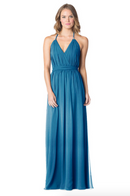 Peacock-Bari Jay Bridesmaid Dress - 1600
