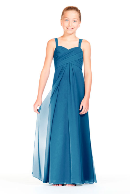 Bari Jay Junior Bridesmaid Dress 1803 (JR)-Peacock