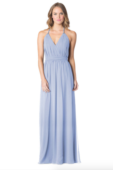Periwinkle-Bari Jay Bridesmaid Dress - 1600