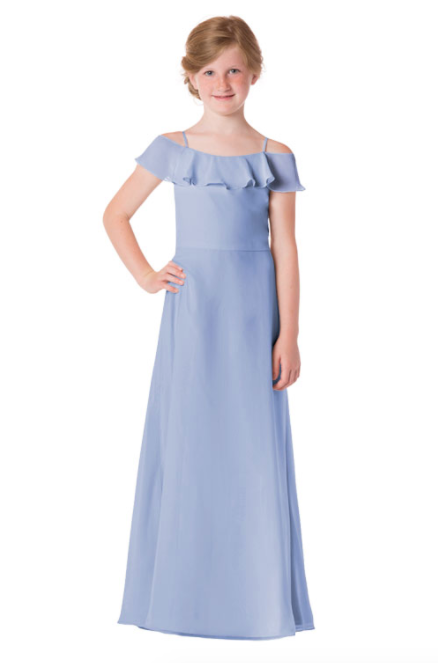 Bari Jay Junior Bridesmaid Dress - 1730(JR)-Periwinkle