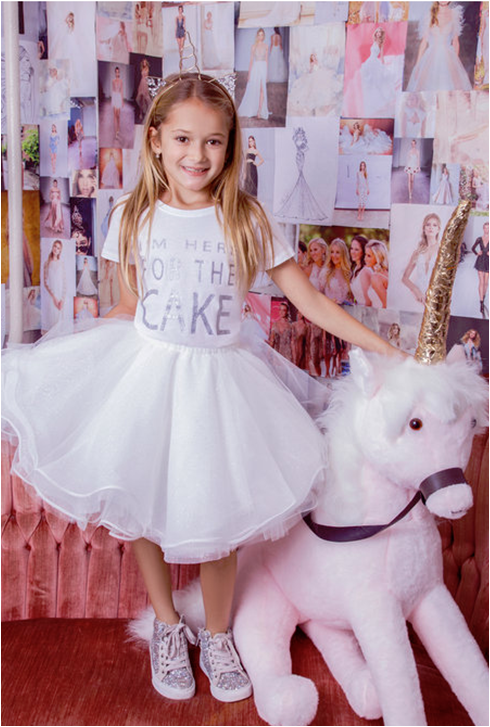 La Petite Flower Girl Dress Dot 5826